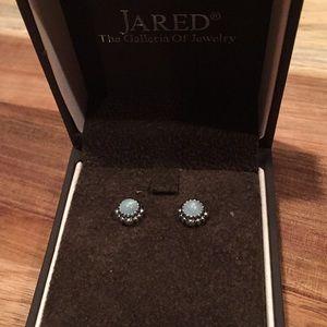 Pandora Aquamarine Sterling Silver Earrings